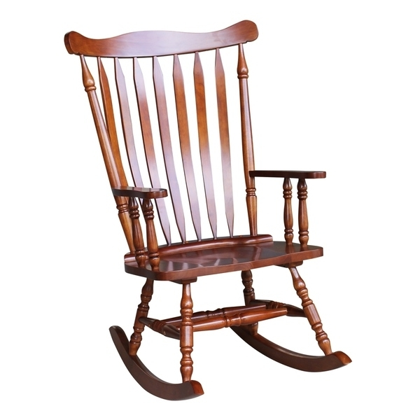 Rocking Chairs In Favorite Shop Colonial Cherry Finish Rocking Chair – Free Shipping Today (View 7 of 20)