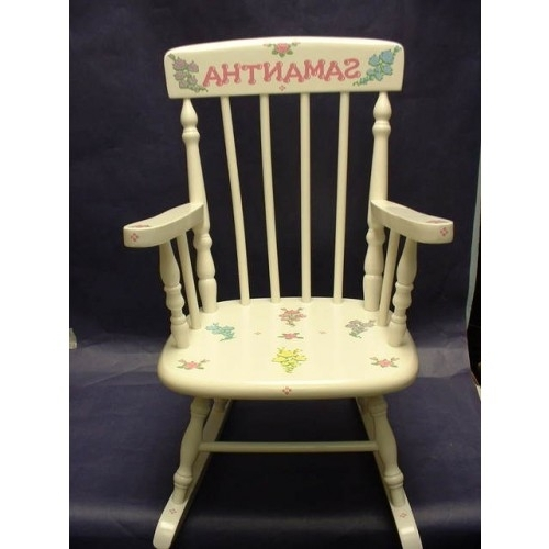 Rocking Chairs /medium Rocker /multi Pastel French Roses In Trendy Rocking Chairs At Roses (View 11 of 20)