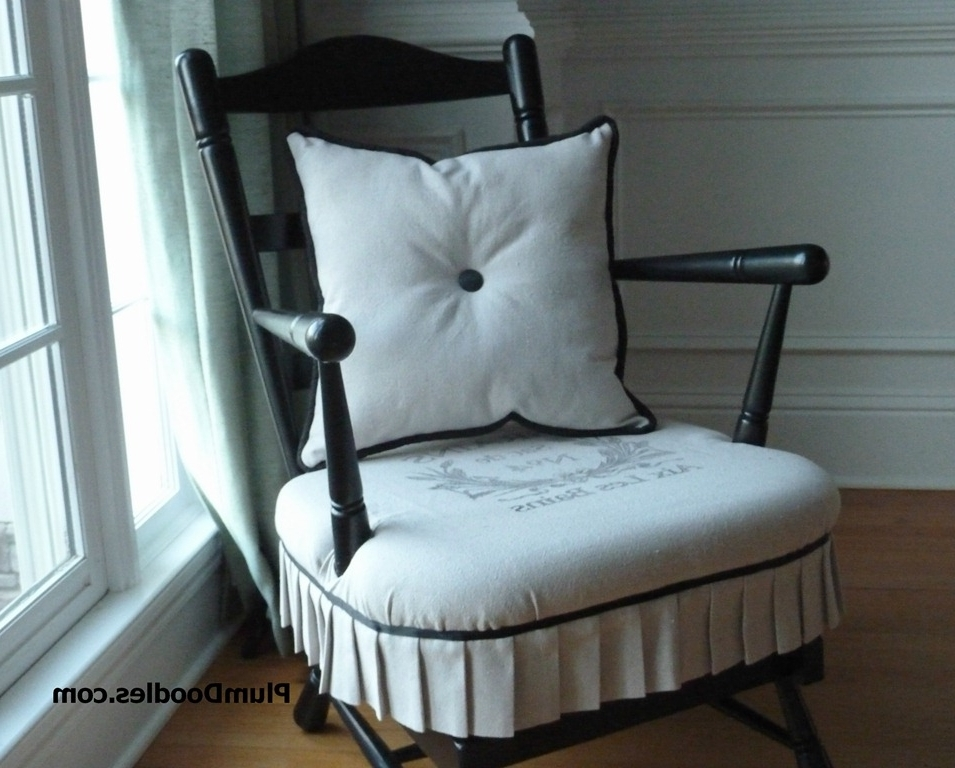 Rocking Chairs With Cushions Pertaining To Best And Newest Early American To French Country Rocking Chair Makeover (View 13 of 20)