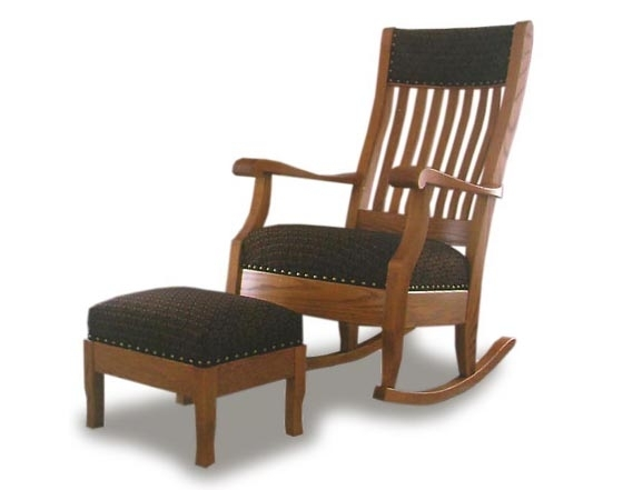 Rocking Chairs With Footrest For Best And Newest Grandma's Rocking Chair And Footstool (View 11 of 20)