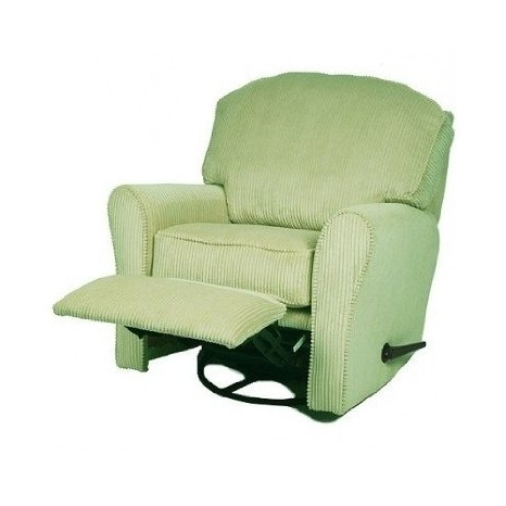 Rocking Chairs With Footrest With Regard To Preferred Buy Green Swivel Glider Rocker, Upholstered Reclining Glider (View 14 of 20)