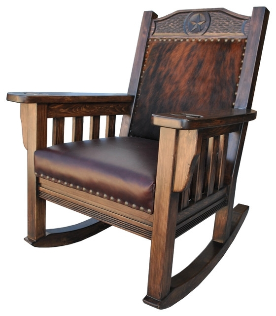 Rocking Chairs With Regard To Preferred Texas Western Rocking Chair, Cowhide – Southwestern – Rocking Chairs (View 6 of 20)
