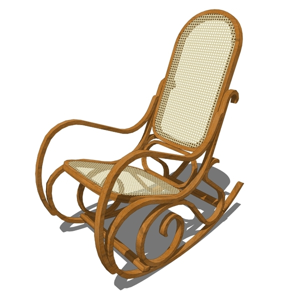 Rocking Wicker Chair 3D Model – Formfonts 3D Models & Textures Regarding Most Recent Used Patio Rocking Chairs (View 12 of 20)