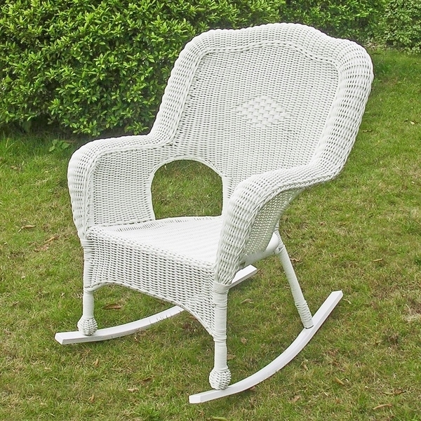 Shop International Caravan Chelsea Resin Wicker Porch Rocker (Set Of Within Newest Wicker Rocking Chairs Sets (View 11 of 20)