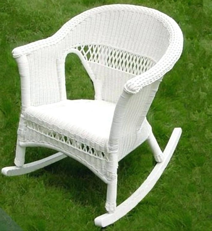 Small Patio Rocking Chairs For Preferred Small Wicker Chair For Sale White Wicker Rocking Chair For Sale (View 14 of 20)