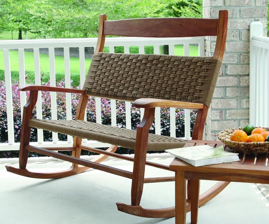 Small Patio Rocking Chairs In Latest Rustic Outdoor Rocking Chairs Designs The Most In Addition To  (View 15 of 20)