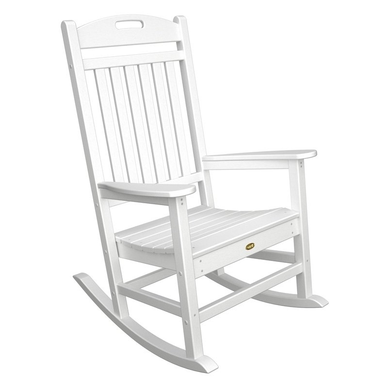 Small Patio Rocking Chairs Regarding Recent Trex Outdoor Furniture Recycled Plastic Yacht Club Rocking Chair (View 16 of 20)