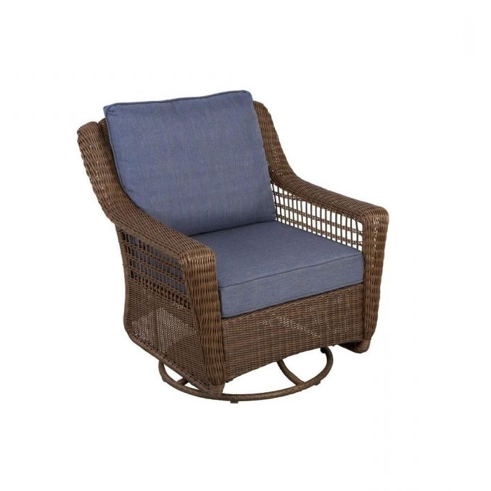 Spring Haven Brown All Weather Wicker Patio Swivel Rocking Chair Throughout Famous Brown Patio Rocking Chairs (View 18 of 20)