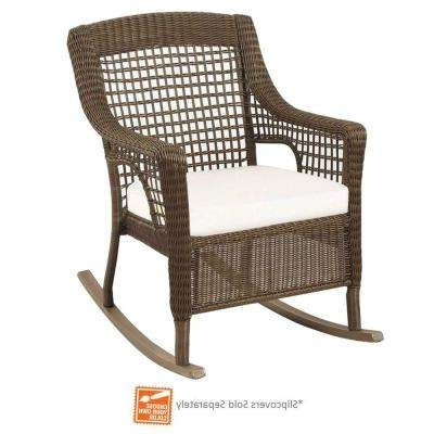 Steel – Rocking Chairs – Patio Chairs – The Home Depot Regarding Recent Manhattan Patio Grey Rocking Chairs (View 15 of 20)