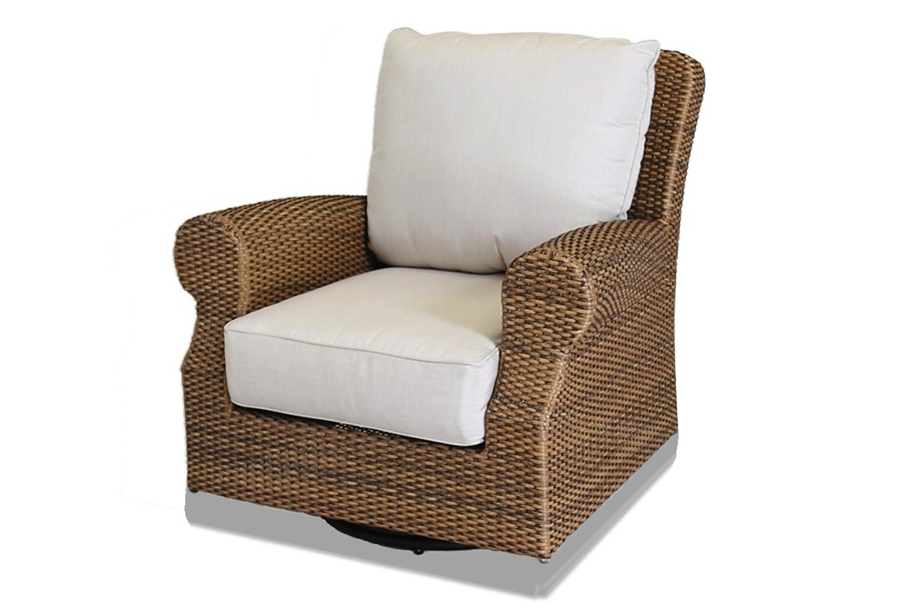 Sunset West Santa Cruz Wicker Swivel Rocker – Wicker Rocking Chairs With Regard To Most Popular Wicker Rocking Chairs Sets (View 12 of 20)