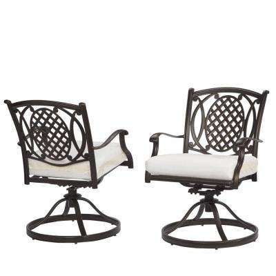 Swivel – Outdoor Dining Chairs – Patio Chairs – The Home Depot Throughout Famous Outdoor Patio Metal Rocking Chairs (View 8 of 20)