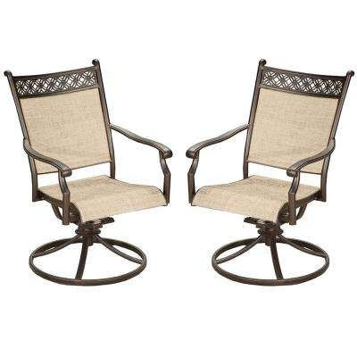Swivel – Rocking Chairs – Patio Chairs – The Home Depot Inside Newest Iron Rocking Patio Chairs (View 15 of 20)