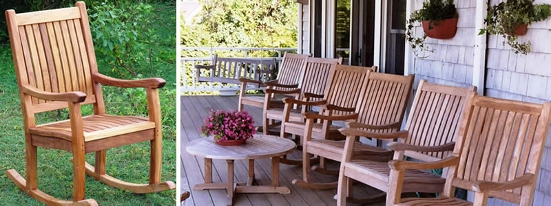 Teak Rocking Chair : Teak Outdoor Furniture From Benchsmith In Most Popular Teak Patio Rocking Chairs (View 8 of 20)