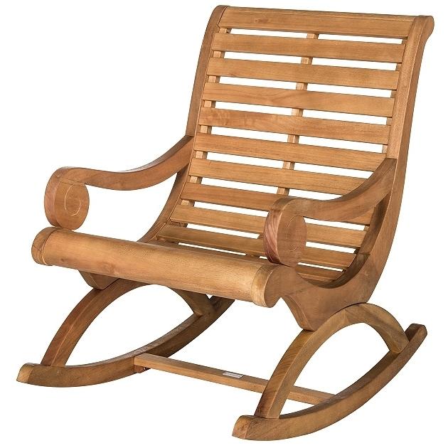 Teak Rocking Chairs Wonderful Patio Rocking Chairs Wood Chairs Teak In Popular Patio Rocking Chairs (View 17 of 20)