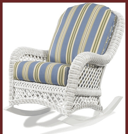 The Most Outdoor White Wicker Rocking Chair Furniture In Cane Decor For Popular White Wicker Rocking Chair For Nursery (View 11 of 20)