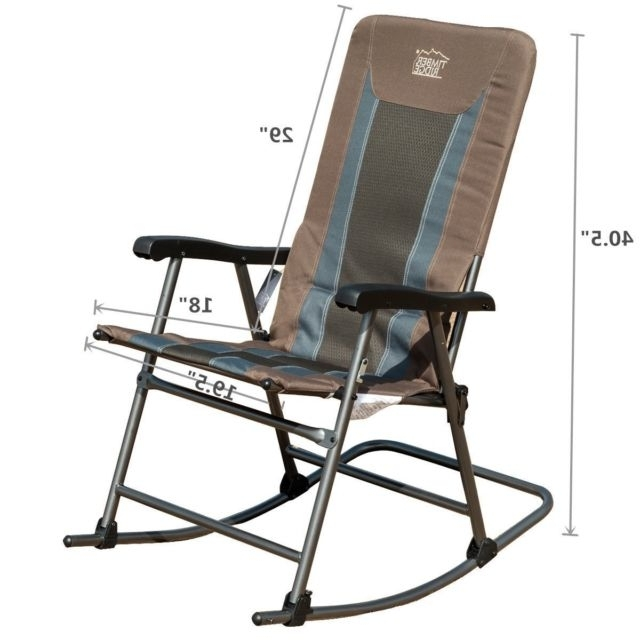 Timber Ridge Smooth Glide Lightweight Padded Folding Rocking Chair Regarding Popular Padded Patio Rocking Chairs (View 16 of 20)