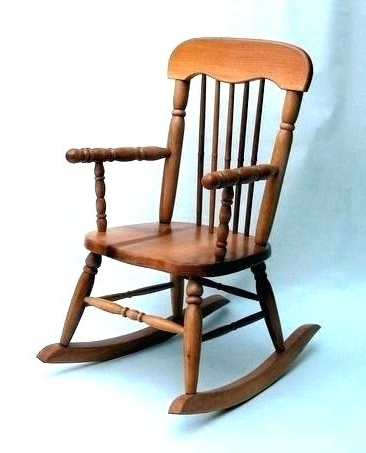 Trendy Baby Wooden Rocking Chair S Vintage Wood Chairs Antique Ebay In Old Fashioned Rocking Chairs (View 18 of 20)