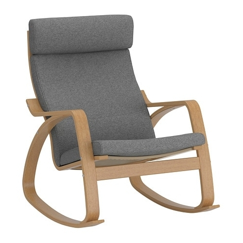 Trendy Ikea Rocking Chairs For Poäng Rocking Chair Oak Veneer/lysed Grey – Ikea (View 18 of 20)