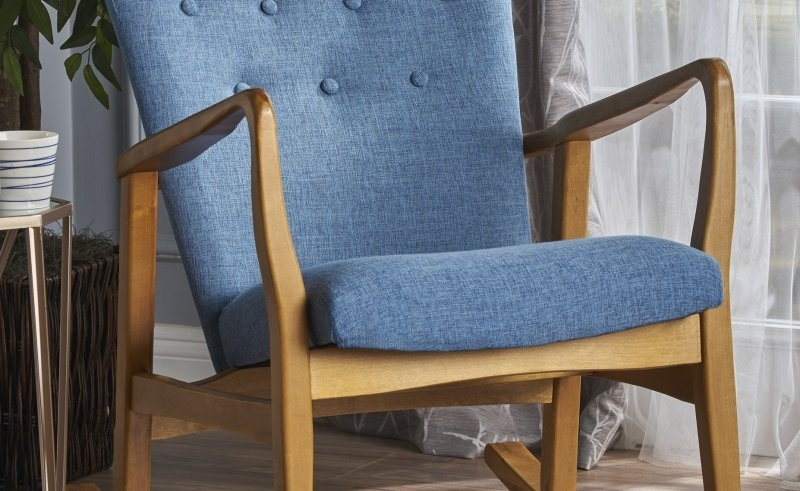 Trendy Rocking Chairs At Wayfair Intended For Brayden Studio Saulter Fabric Rocking Chair Wayfair (View 18 of 20)