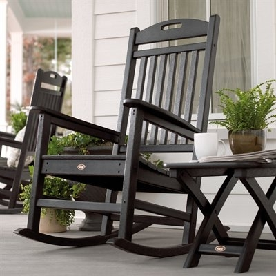 Trendy Trex Outdoor Furniture Txr100 Yacht Club Outdoor Rocking Chair Regarding Rona Patio Rocking Chairs (View 18 of 20)