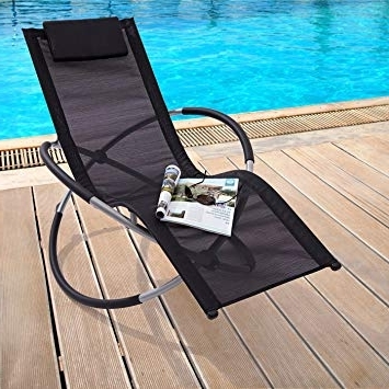 Trueshopping Black Zen Sun Lounger / Rocker Chair / Folding Garden Intended For Popular Zen Rocking Chairs (View 14 of 20)