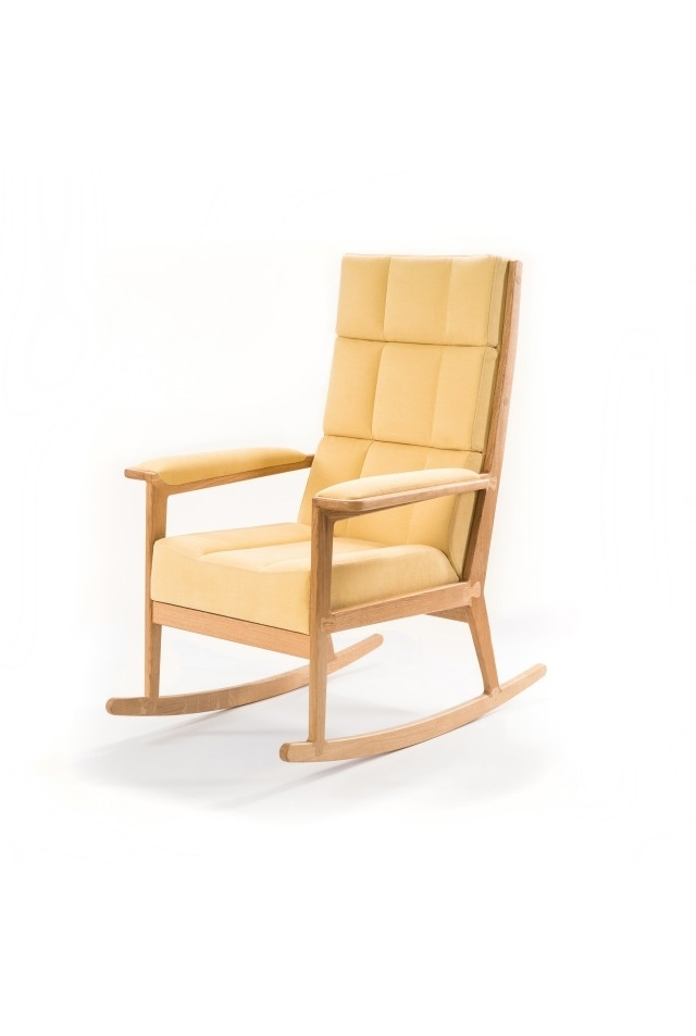 Unbelievably Comfortable Rocking Chair In A Beautiful Yellow Color Inside Preferred Yellow Outdoor Rocking Chairs (Gallery 10 of 20)