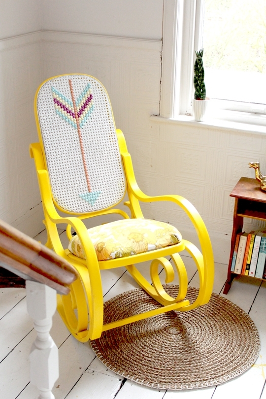 Upcycled Rocking Chairs Within Well Liked Archie And The Rug: Rocking Chair Upcycle (View 17 of 20)