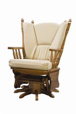 Upholstered Gliding Swivel Rocking Chair From Dutchcrafters Amish Throughout Current Swivel Rocking Chairs (Gallery 2 of 20)