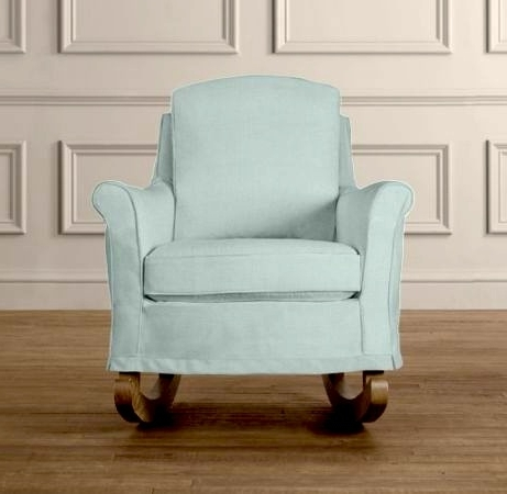 Upholstered Rocking Chairs Pertaining To Well Liked Endearing Upholstered Toddler Rocking Chair With Upholstered Rocking (View 4 of 20)