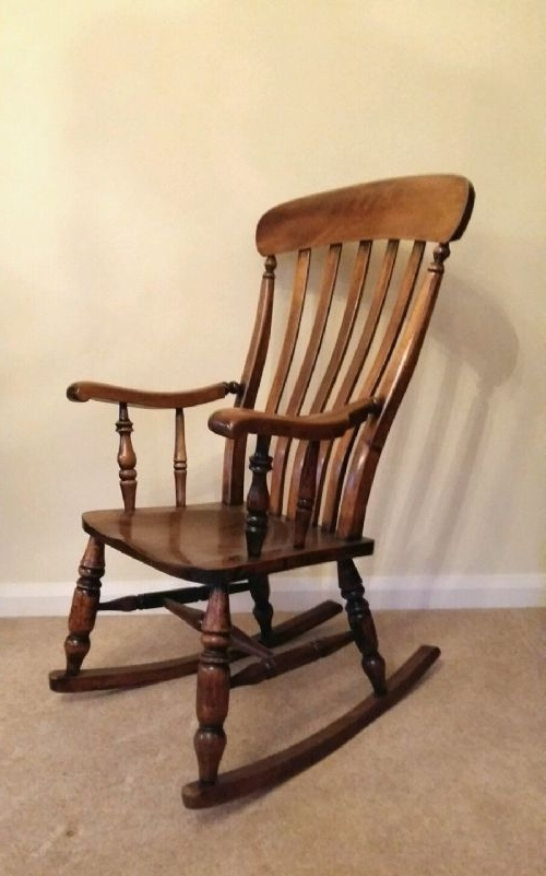 Victorian Rocking Chairs Within Most Recently Released Victorian Ash & Elm Splat Back Rocking Chair (View 18 of 20)