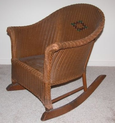 Vintage Child's Wicker Rocking Chair Nr — Antique Price Guide Pertaining To Most Popular Vintage Wicker Rocking Chairs (View 8 of 20)