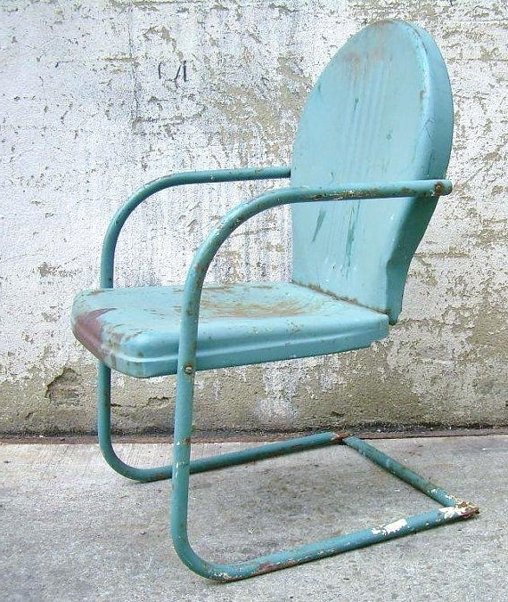 Vintage Metal Rocking Patio Chairs With Regard To Fashionable Vintage Lawn Furniture Inspiring Vintage Metal Outdoor Furniture (Gallery 18 of 20)