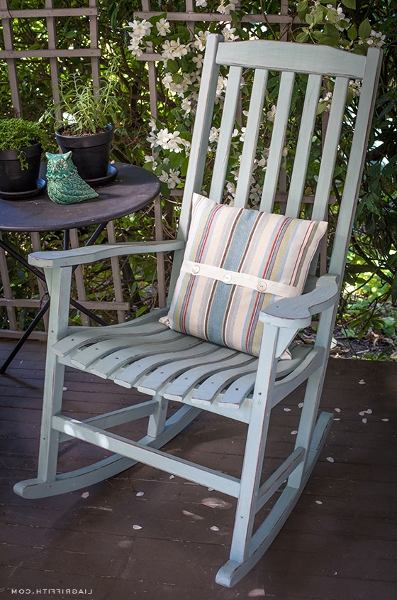 Vintage Outdoor Rocking Chairs In Most Recently Released Diy Vintage Painted Rocking Chairs (View 13 of 20)