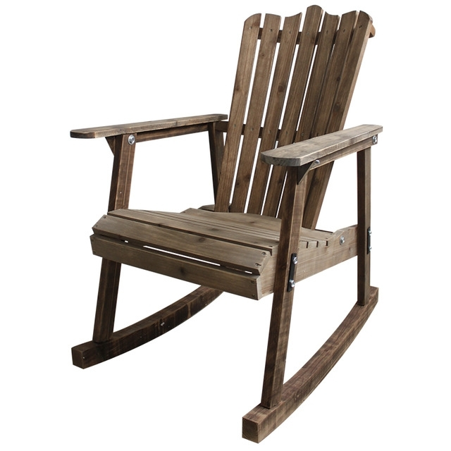 Vintage Outdoor Rocking Chairs Regarding Preferred Outdoor Furniture Wooden Rocking Chair Rustic American Country Style (View 16 of 20)