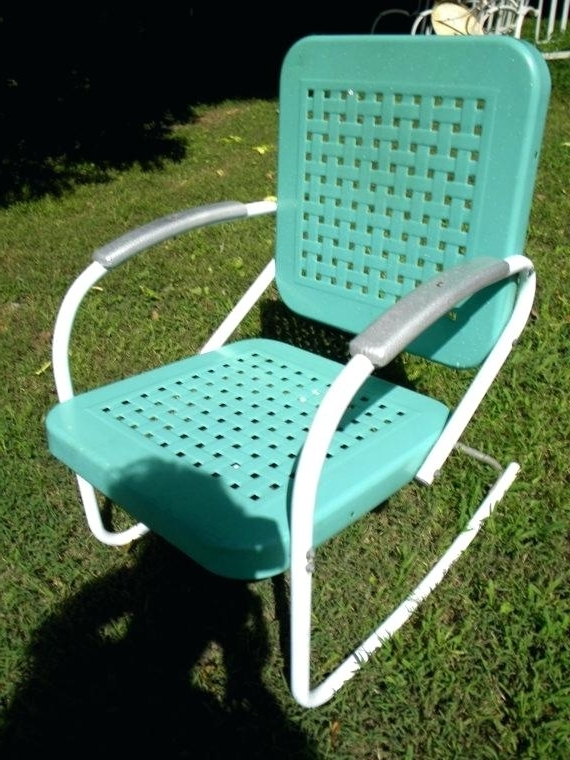 Vintage Patio Furniture For Sale Amazing Retro Patio Chairs With Pertaining To Preferred Vintage Outdoor Rocking Chairs (View 18 of 20)