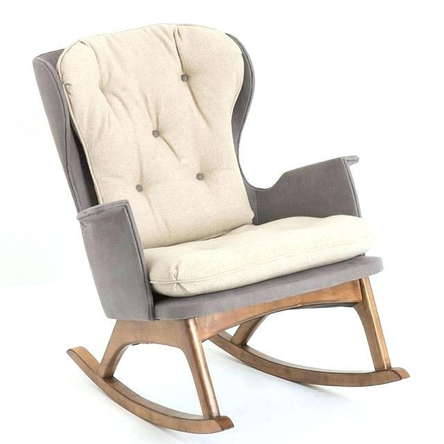 Vintage Upholstered Platform Rocking Chair (View 11 of 20)