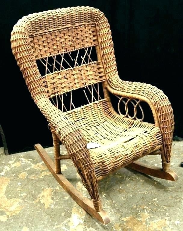 Vintage Wicker Rocking Chair Antique Wicker Rocking Chair Antique Within Favorite Antique Wicker Rocking Chairs (Gallery 16 of 20)