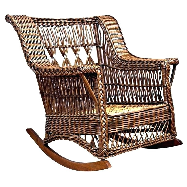Vintage Wicker Rocking Chairs Pertaining To Famous Used Wicker Rocking Chair For Sale. Vintage White Wicker Rocking (Gallery 13 of 20)
