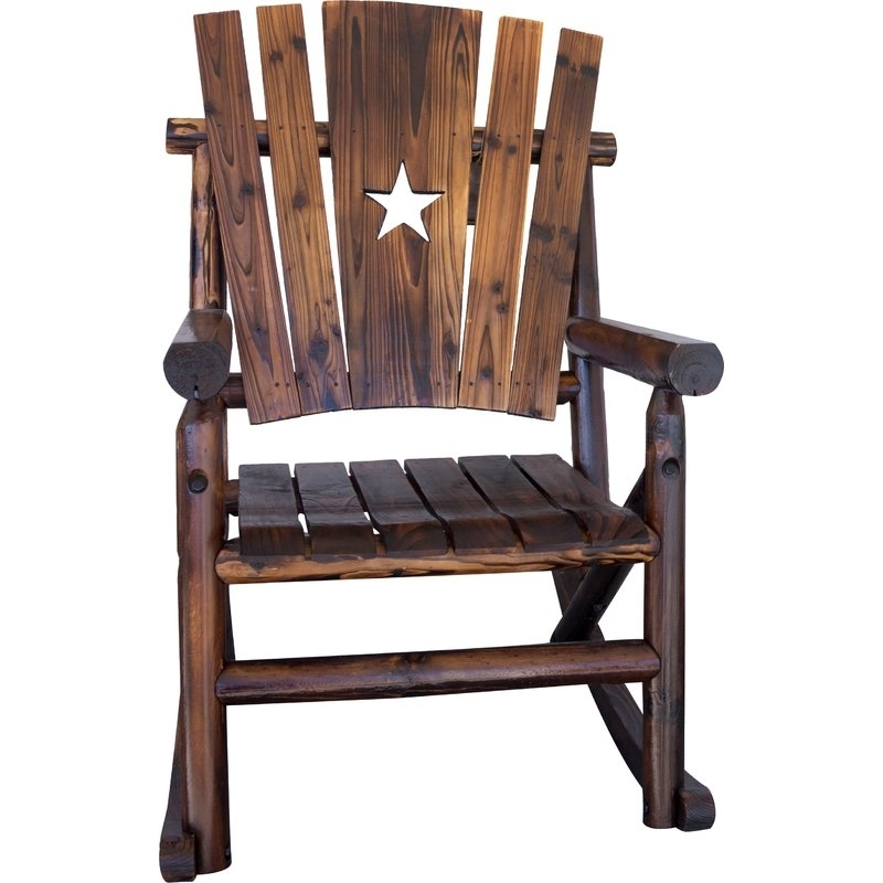 Wayfair Regarding Char Log Patio Rocking Chairs With Star (View 17 of 20)