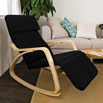 Well Known Amazon: Haotian Relax Rocking Chair With Foot Rest Design Pertaining To Rocking Chairs With Footrest (View 16 of 20)