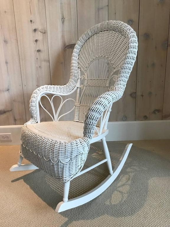 Well Known Antique Wicker Rocker For Sale At 1stdibs Regarding Antique Wicker Rocking Chairs (View 14 of 20)