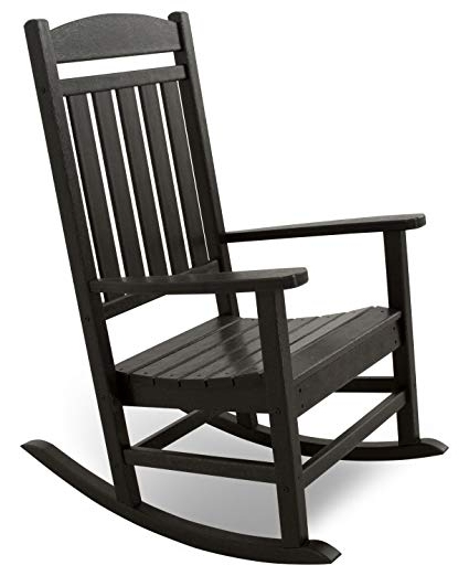 Well Known Black Patio Rocking Chairs Inside Amazon : Ivy Terrace Ivr100bl Classics Rocker Chair, Black (View 13 of 20)