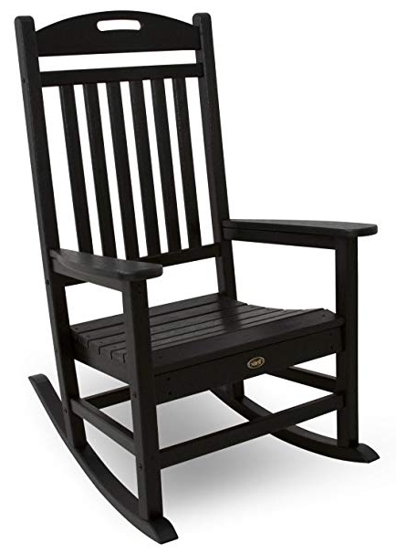 Well Known Black Patio Rocking Chairs Regarding Amazon : Trex Outdoor Furniture Yacht Club Rocker Chair (View 4 of 20)