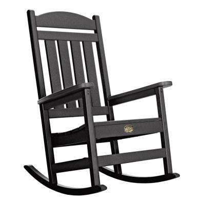 Well Known Black Rocking Chairs In Black – Rocking Chairs – Patio Chairs – The Home Depot (View 19 of 20)