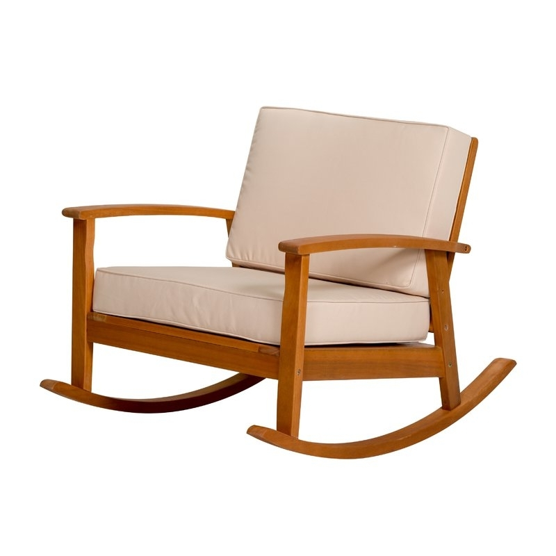 Well Known Highland Dunes Buecker Rocking Chair With Cushions (View 16 of 20)