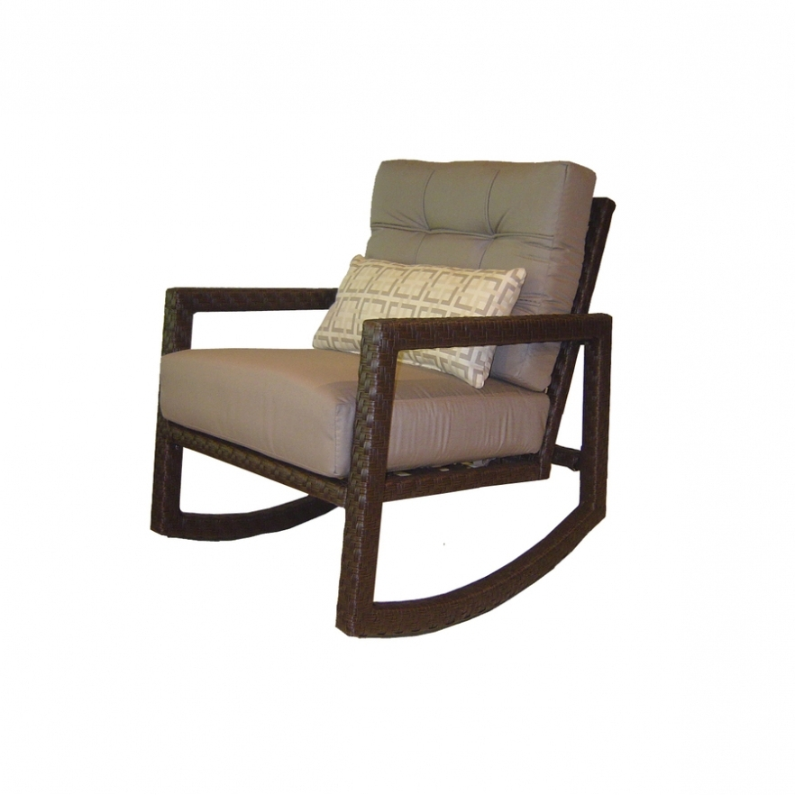 Well Known Lowes Rocking Chairs Within Chairs: Shop Allen Roth Lawley Steel Patio Conversation Chair At (View 19 of 20)