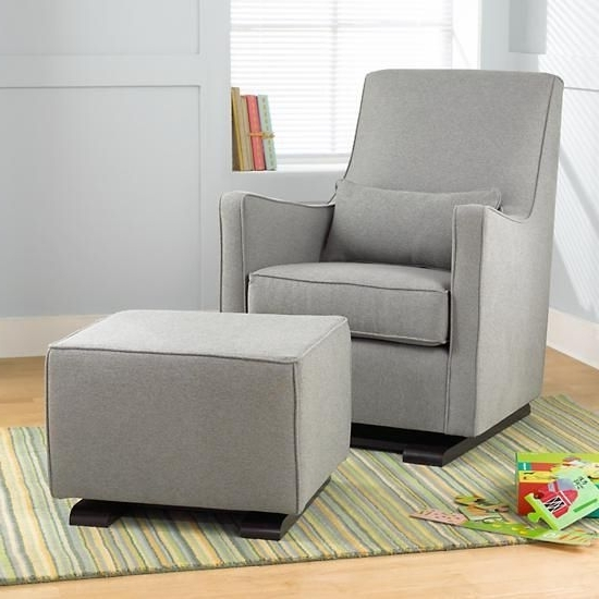 Well Known Luca Glider (heather Grey) In Rocking Chairs (View 10 of 20)