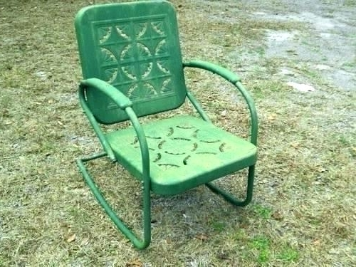 Well Known Metal Rocking Chair Breathtaking Vintage Lawn Chairs Patio Outdoor With Outdoor Patio Metal Rocking Chairs (View 7 of 20)