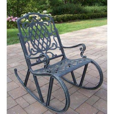Well Known Outdoor Patio Metal Rocking Chairs Regarding Waterproof – Rocking Chairs – Patio Chairs – The Home Depot (View 6 of 20)