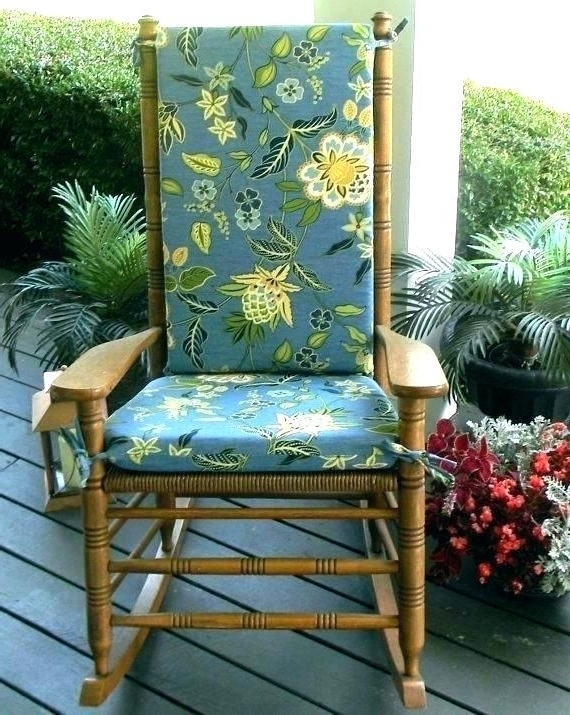 Well Known Outdoor Rocking Chairs With Cushions In Porch Rocking Chair Cushions Outdoor Rocking Bed Patio Rocking Chair (View 19 of 20)